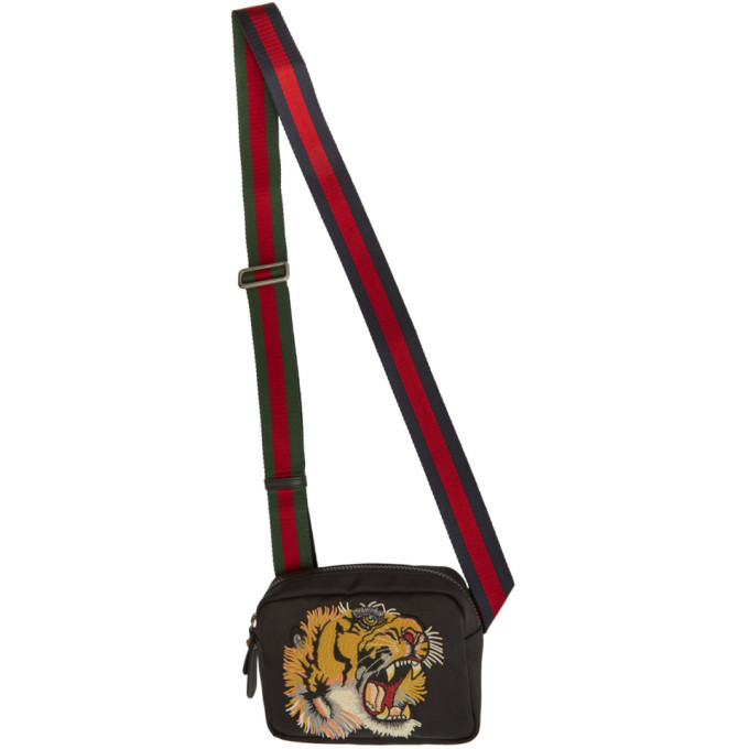 Photo: Gucci Black Tiger Messenger Bag