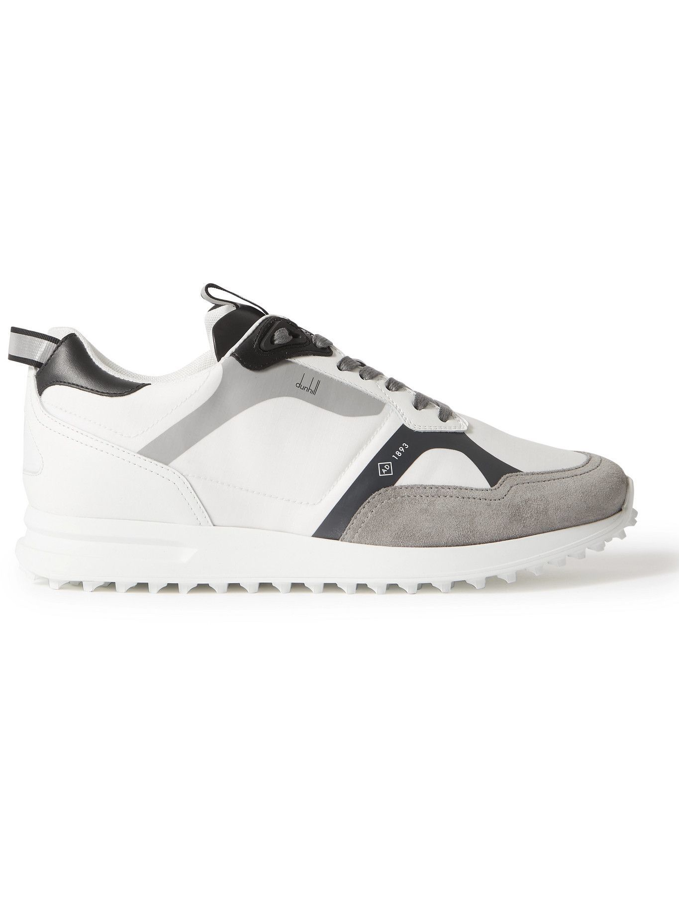 DUNHILL - Radial 2.0 Leather and Suede-Trimmed Ripstop Sneakers - White