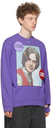 Raf Simons Purple Distressed 'Teenage Dreams' Sweatshirt