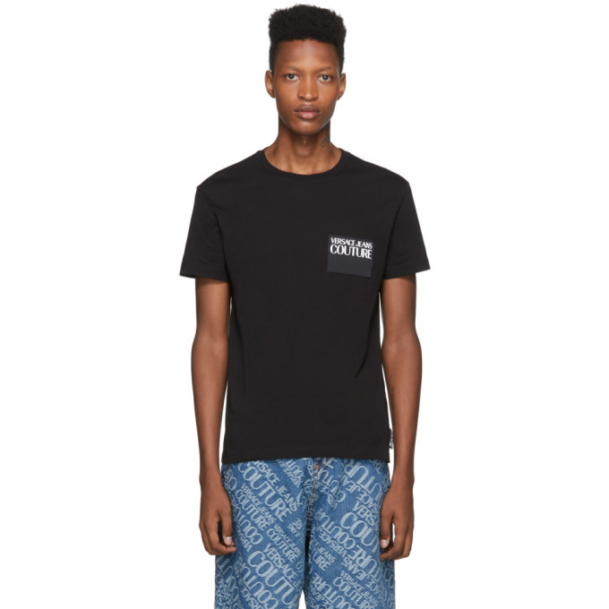 Versace Jeans Couture Black Logo Patch T-Shirt