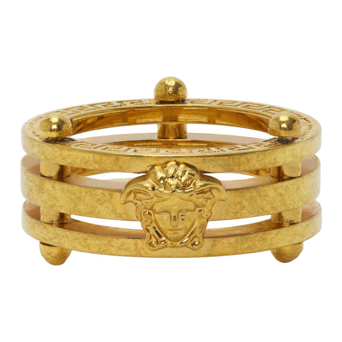 Photo: Versace SSENSE Exclusive Gold Medusa Greek Ring