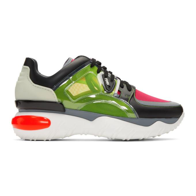 Photo: Fendi Multicolor Leather Sneakers