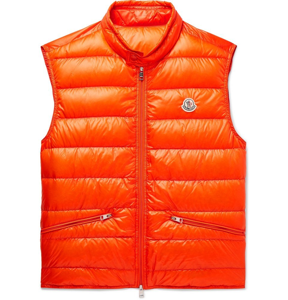 Photo: Moncler - Quilted Shell Down Gilet - Orange