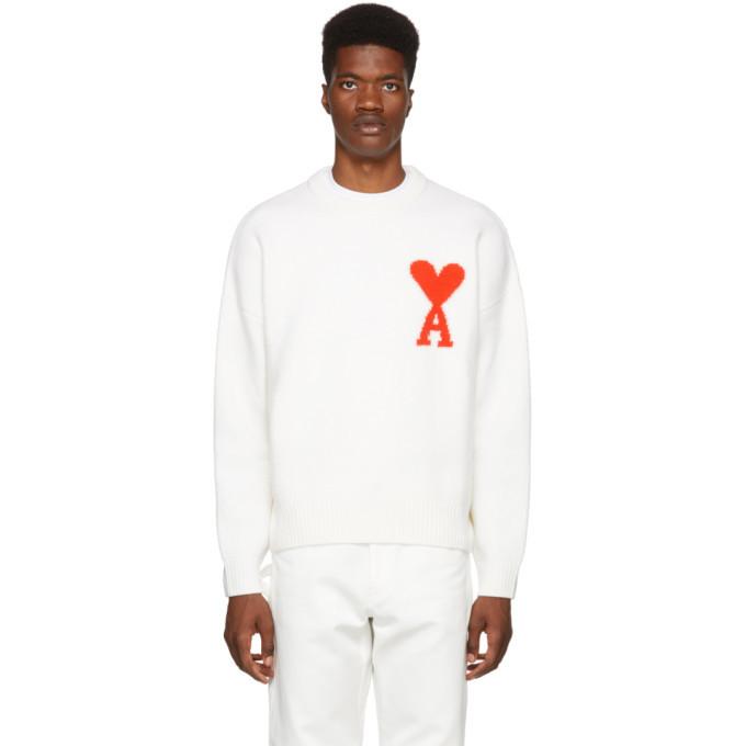 Photo: AMI Alexandre Mattiussi White Oversized Wool Sweater