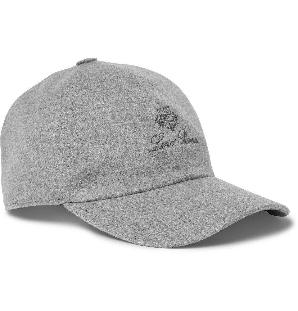 Photo: Loro Piana - Logo-Embroidered Storm System Baby Cashmere Baseball Cap - Gray
