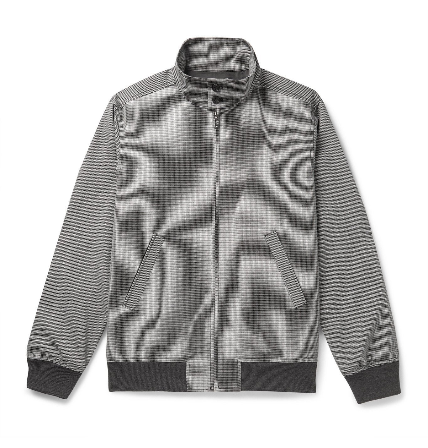 Photo: A.P.C. - Laurel Houndstooth Woven Bomber Jacket - Gray