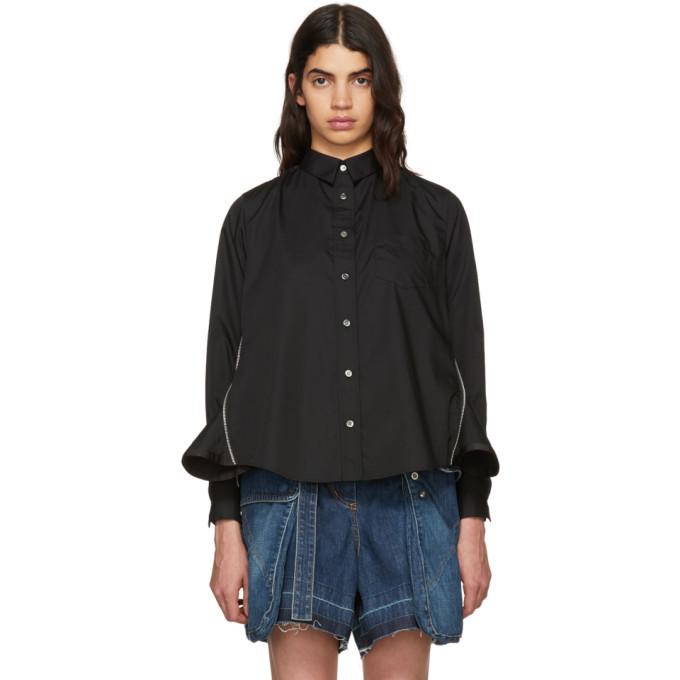 Sacai Black Zip Panel Shirt