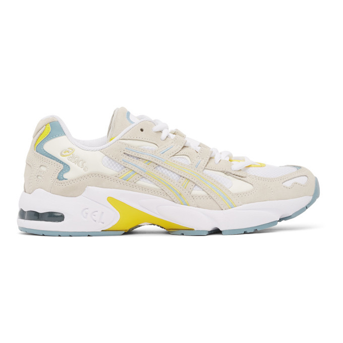 Photo: Asics White and Grey Gel-Kayano 5 OG Sneakers