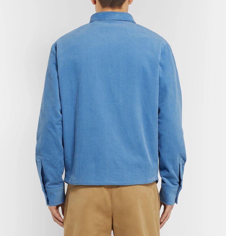 The Elder Statesman - Cotton-Corduroy Jacket - Light blue