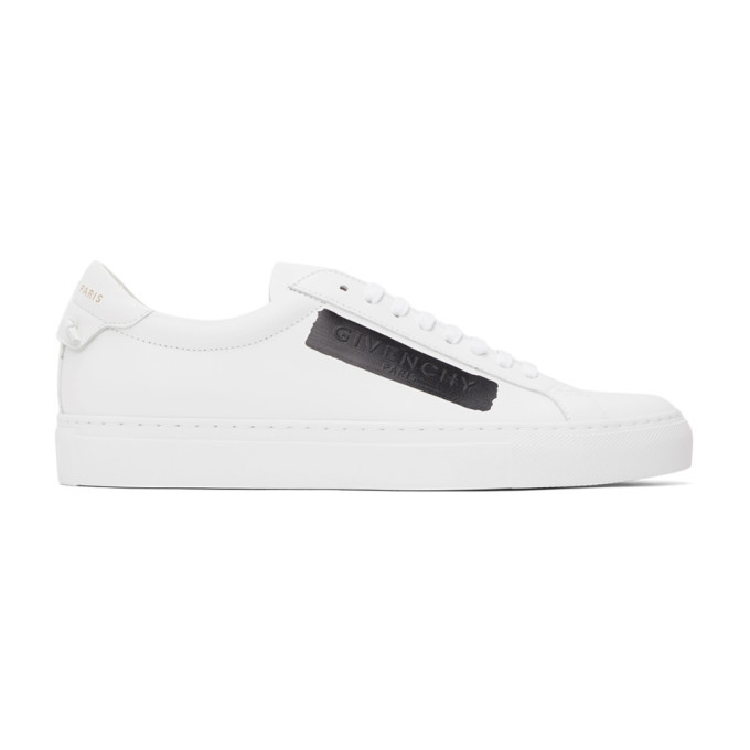 Photo: Givenchy White and Black Latex Band Urban Street Sneakers
