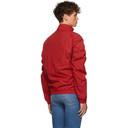 Martine Rose Red Ruched Track Jacket