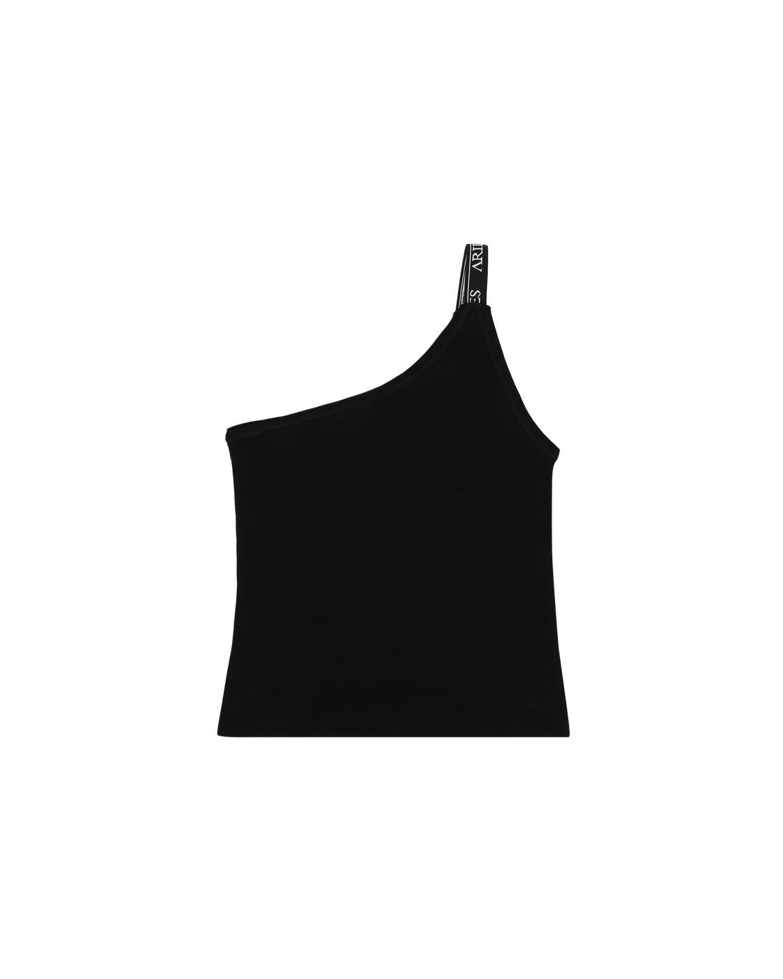 Aries Rib Asymmetric Vest Black
