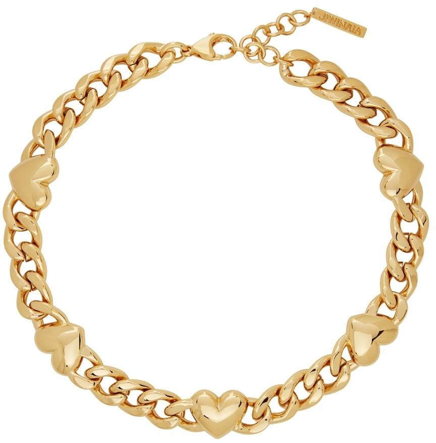 Photo: Jiwinaia Gold XL Heart Necklace