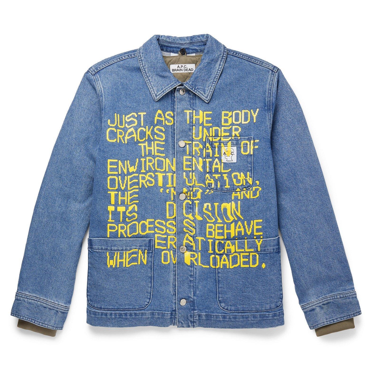 Photo: A.P.C. - Brain Dead Printed Denim Jacket - Blue