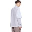 3.1 Phillip Lim Blue Double Layered Shirt