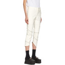 Comme des Garcons Homme Plus White Faux-Leather Skinny Trousers