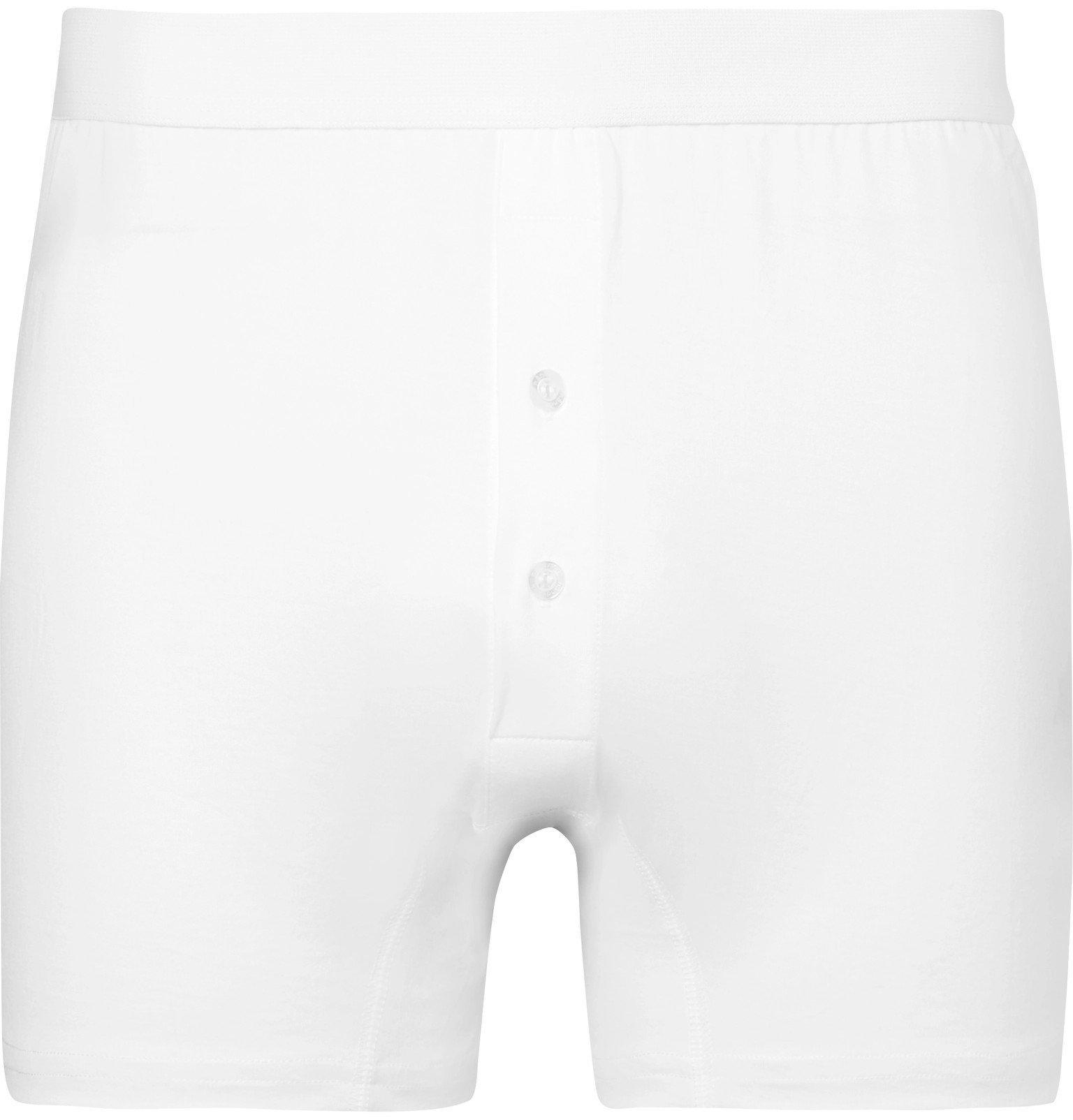 Photo: Handvaerk - Pima Cotton-Jersey Boxer Briefs - White