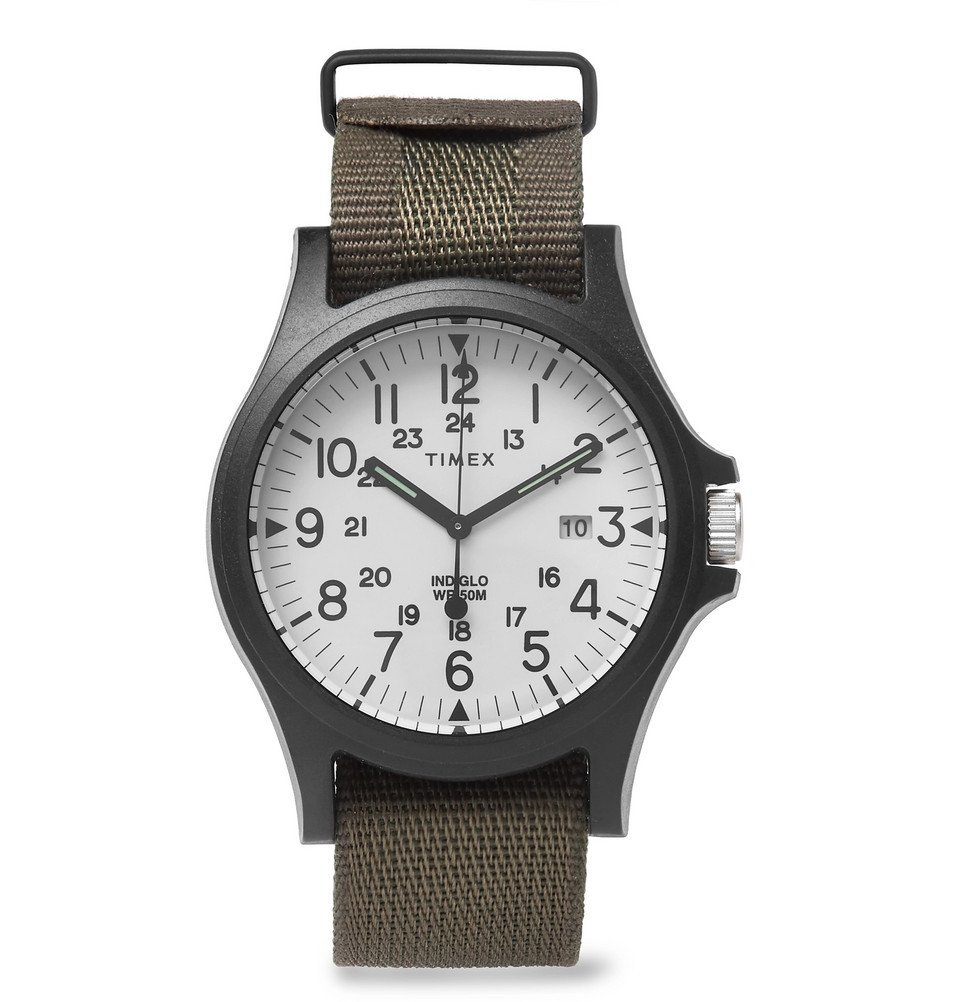 Photo: Timex - Acadia Resin and Grosgrain Watch - Men - White