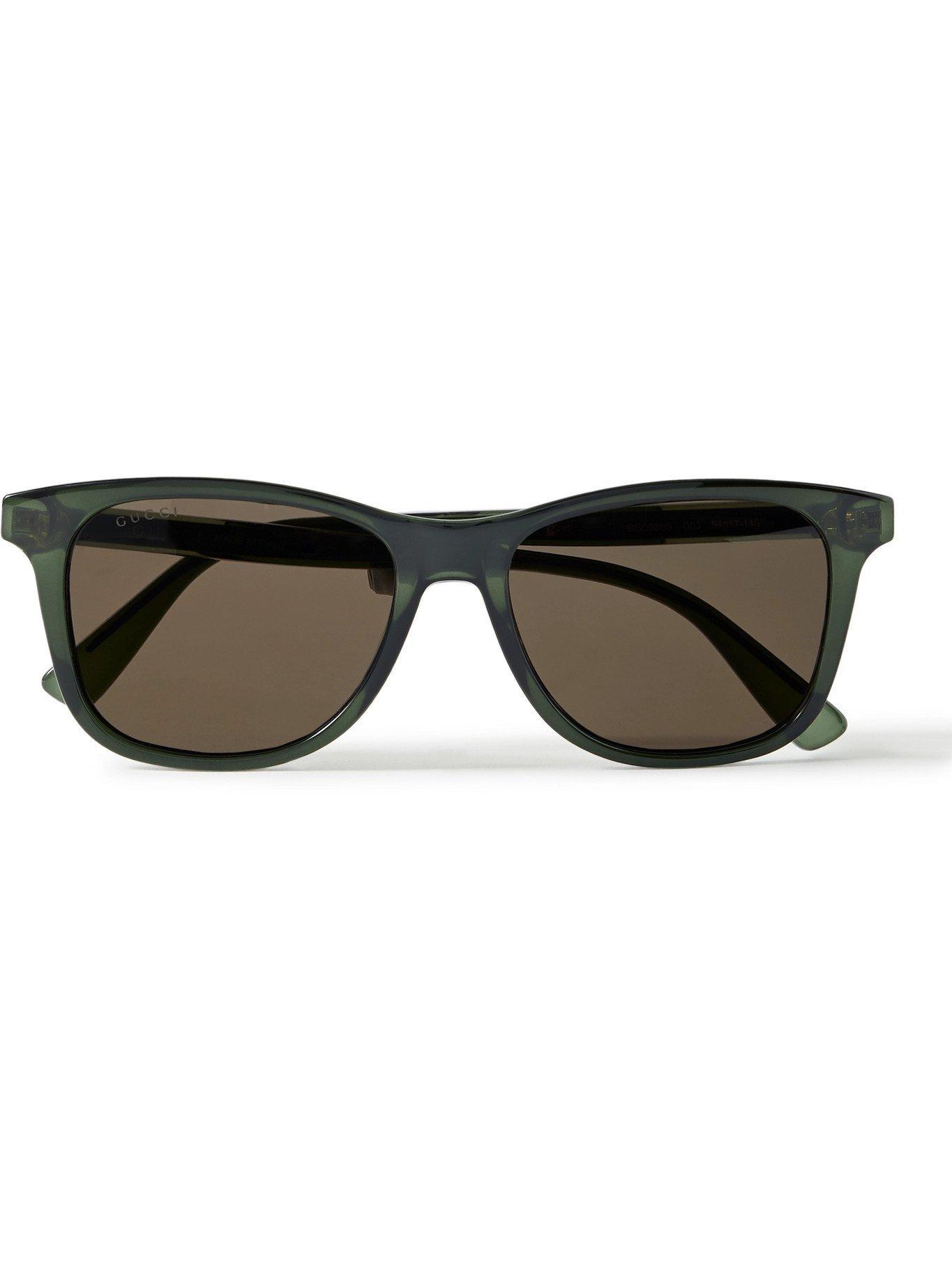 Photo: GUCCI - D-Frame Acetate Sunglasses - Green
