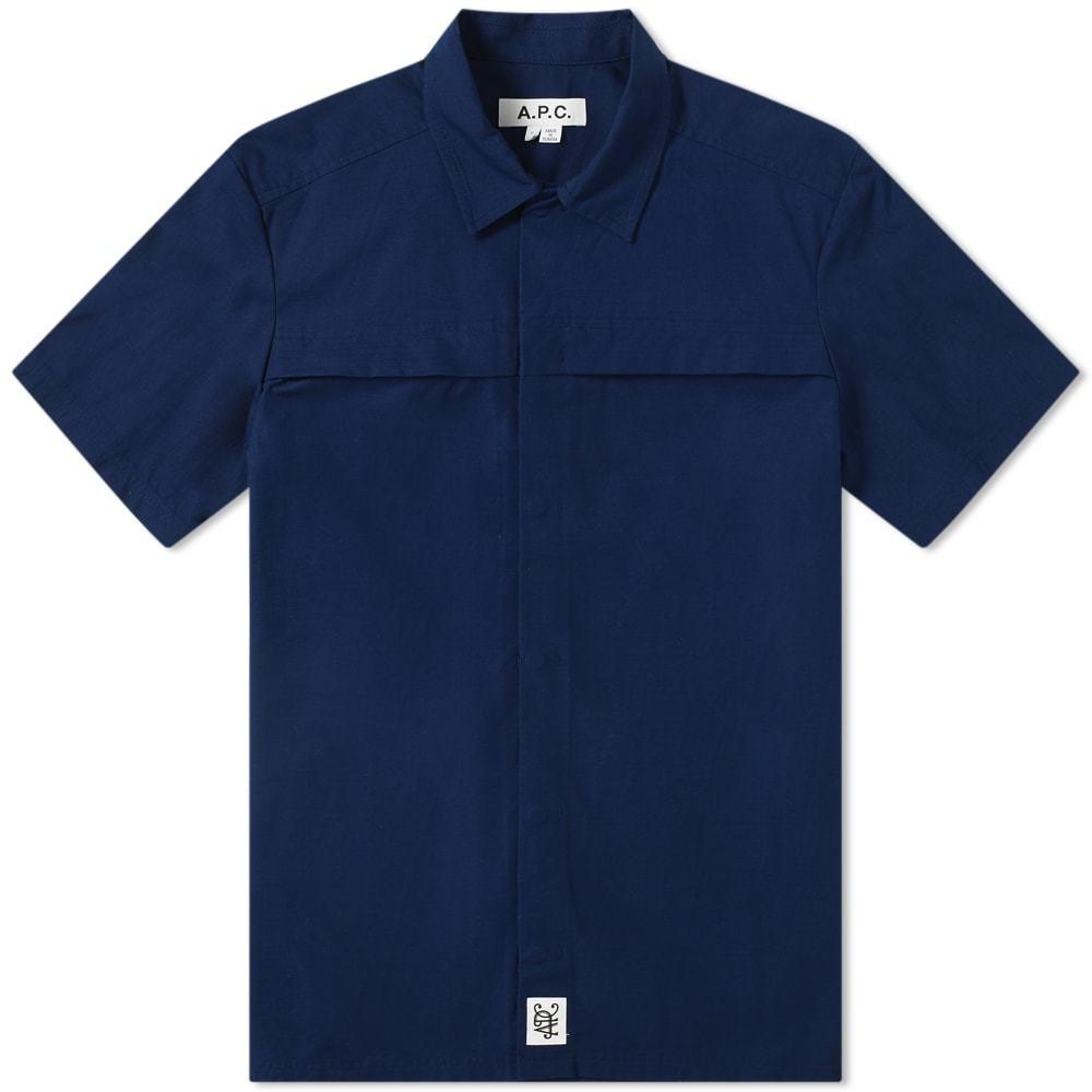 Photo: A.P.C. x Michael Kopelman Short Sleeve Ripstop Shirt