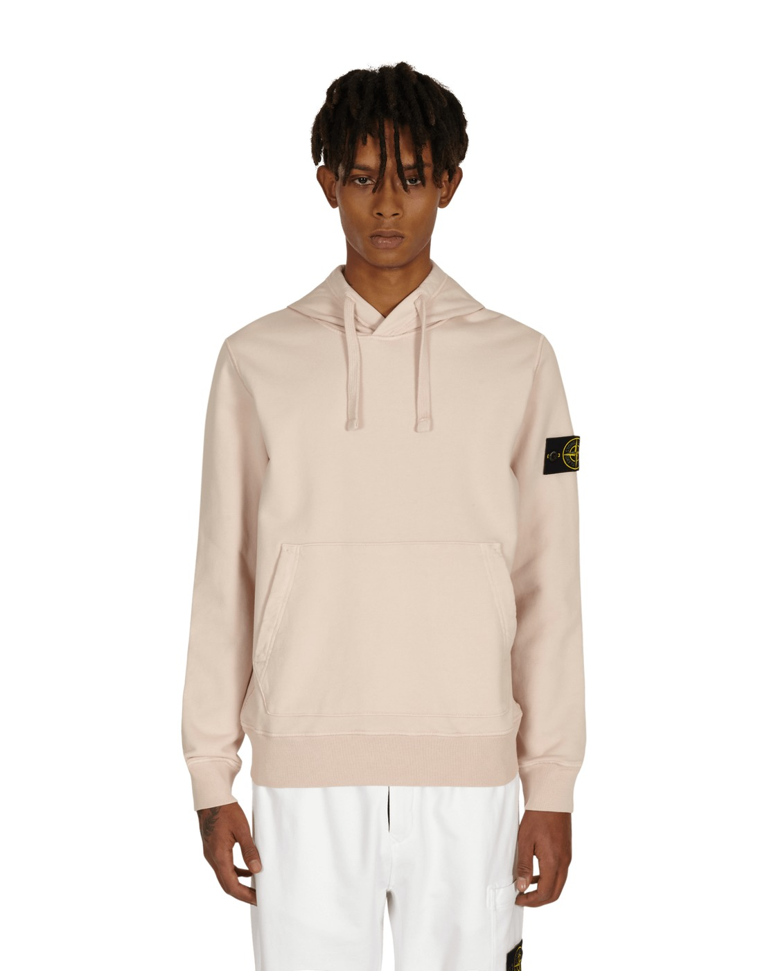Stone Island Basic Hooded Sweatshirt Old Pink