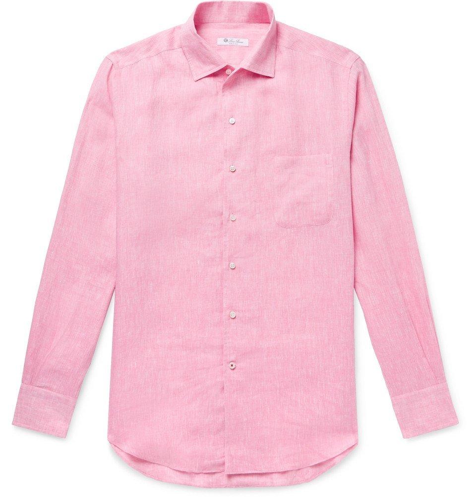 Photo: Loro Piana - Andre Slub Linen Shirt - Pink