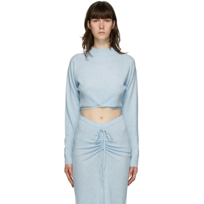 Photo: Christopher Esber Blue Oversize Crop Tie Sweater