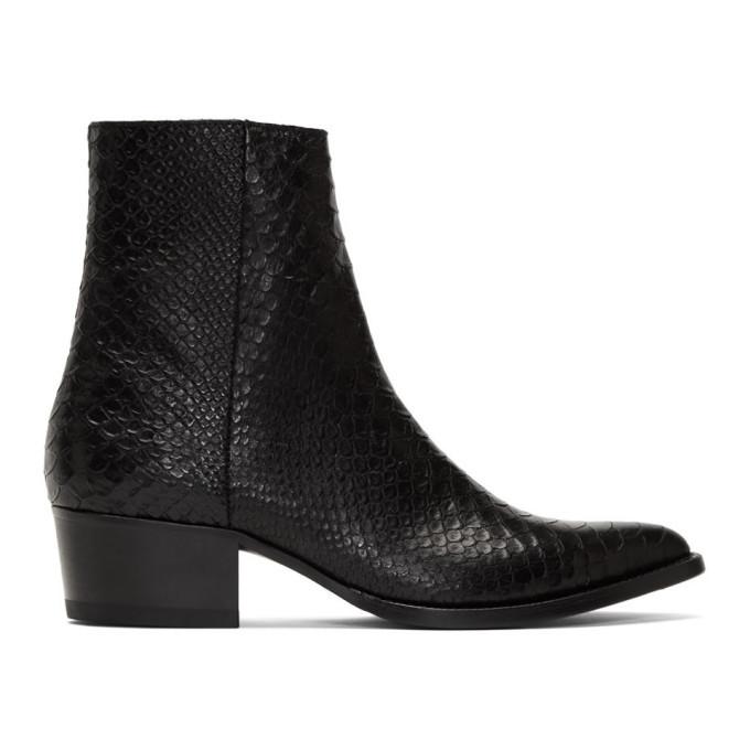 Photo: Amiri Black Snake Western Zip Boots
