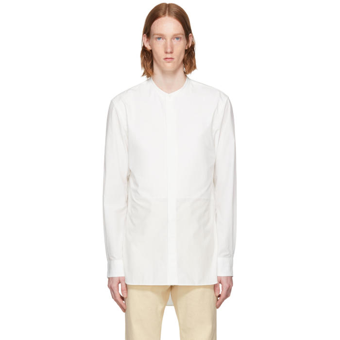 Lemaire White Band Collar Shirt
