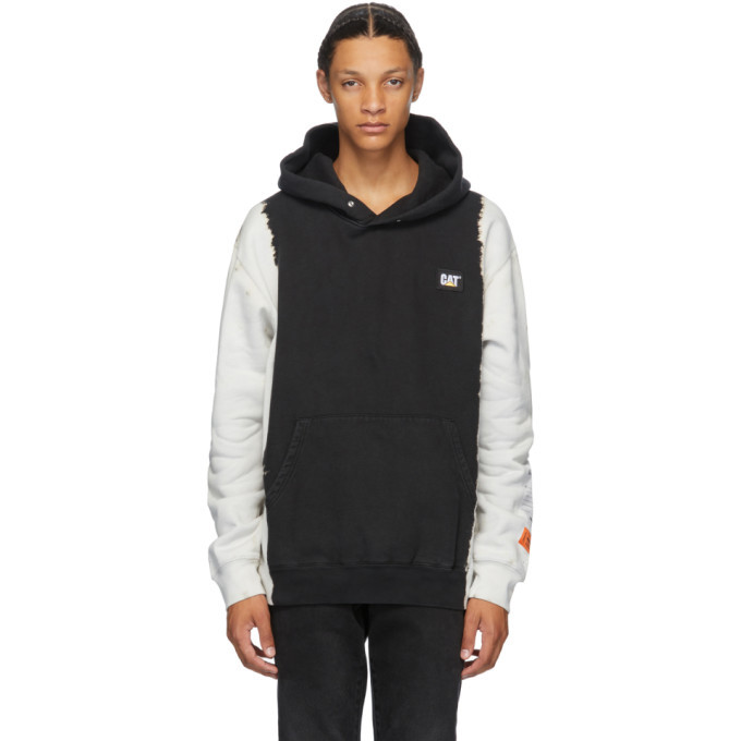 Photo: Heron Preston Black Caterpillar Edition Fleece Hoodie