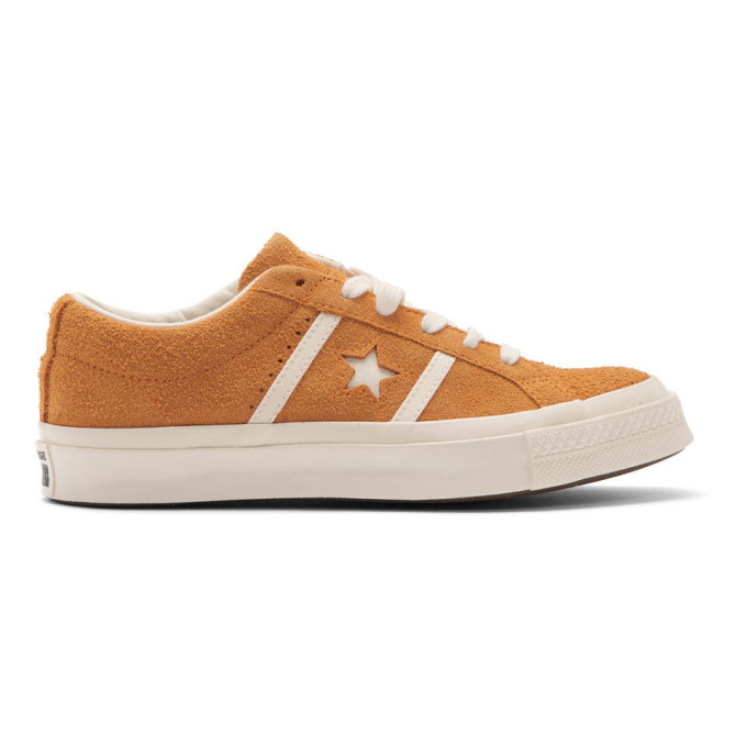 Photo: Converse Orange Suede One Star Ox Academy Time Capsule Sneakers