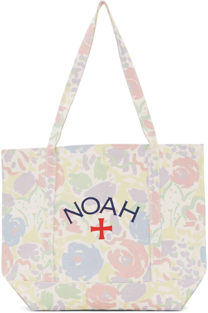 Photo: Noah White Recycled Canvas Floral Core Logo Tote
