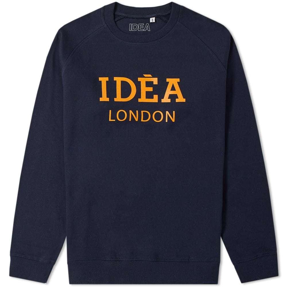 Photo: IDEA London Crew Sweat Navy & Orange