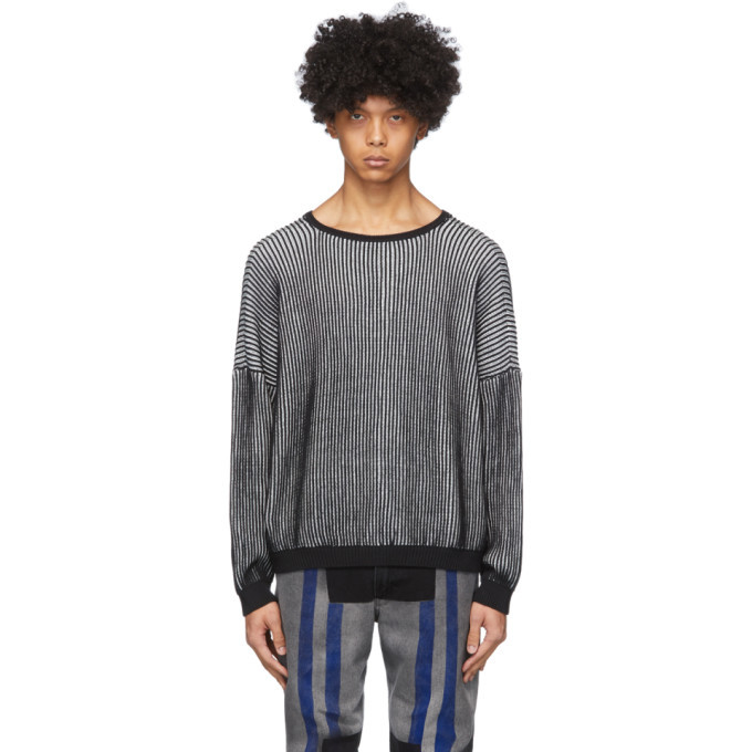 Photo: Eckhaus Latta Black and White Spine Sweater