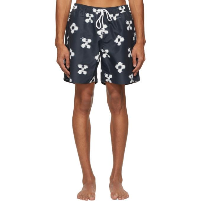 Photo: Saturdays NYC Indigo Timothy Ikat Swim Shorts