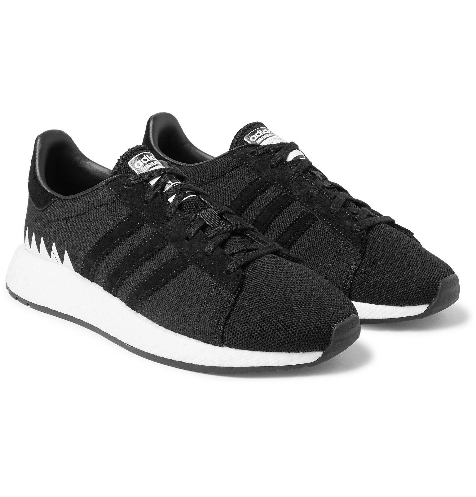 Photo: adidas Consortium - Neighborhood Chop Shop Primeknit Sneakers - Black