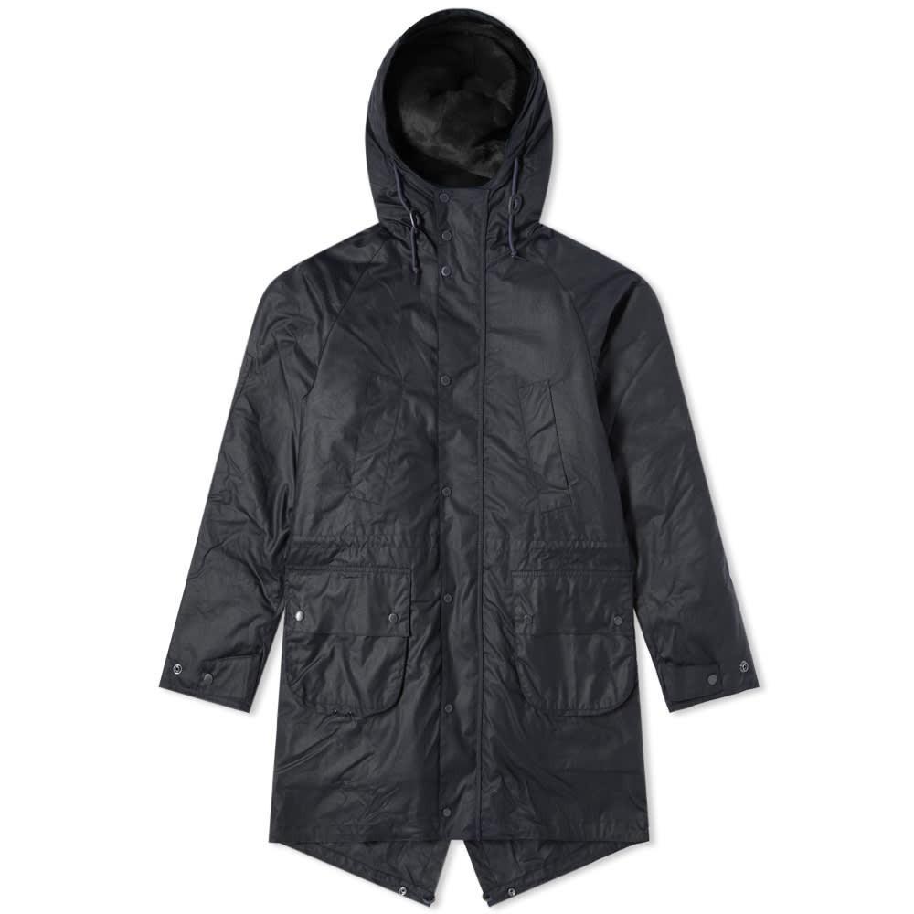 Photo: Barbour x Engineered Garments Highland Wax Parka