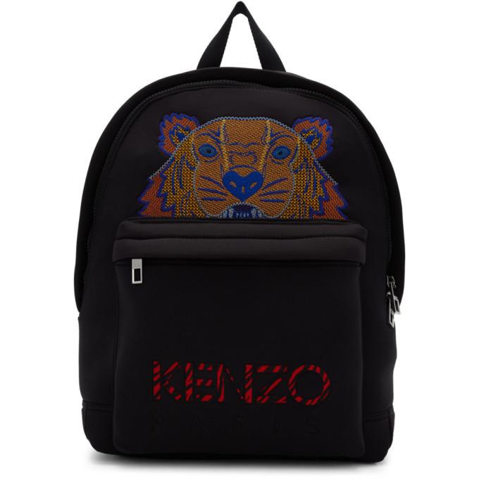 Photo: Kenzo Black Large Neoprene Tiger Backpack