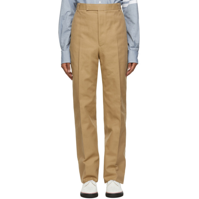 Photo: Thom Browne Beige Unconstructed Chinos