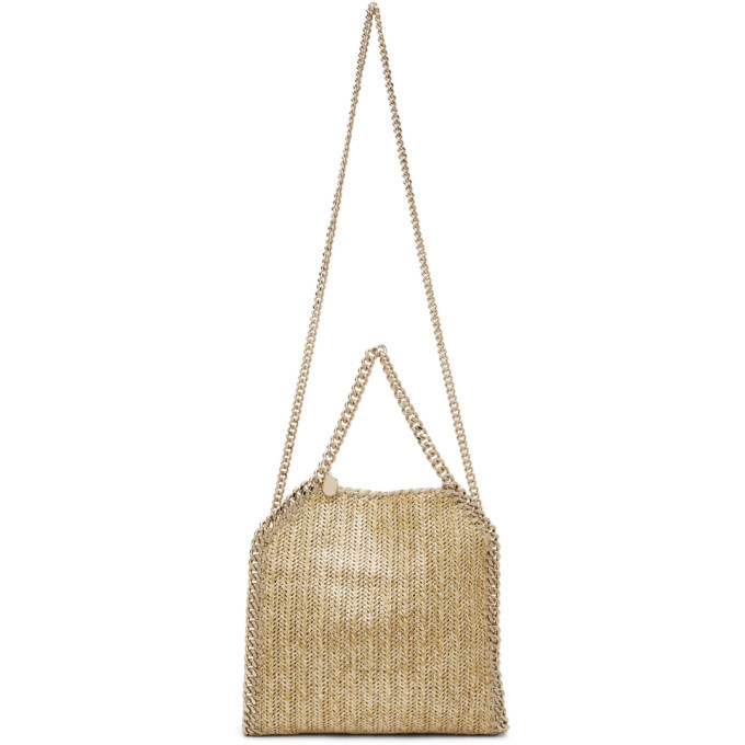 Photo: Stella McCartney Tan Raffia Mini Falabella Tote