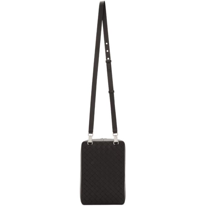 Bottega Veneta Black Intrecciato Leather Bag