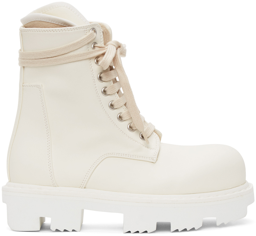 Photo: Rick Owens Drkshdw Off-White Megatooth Army Boots