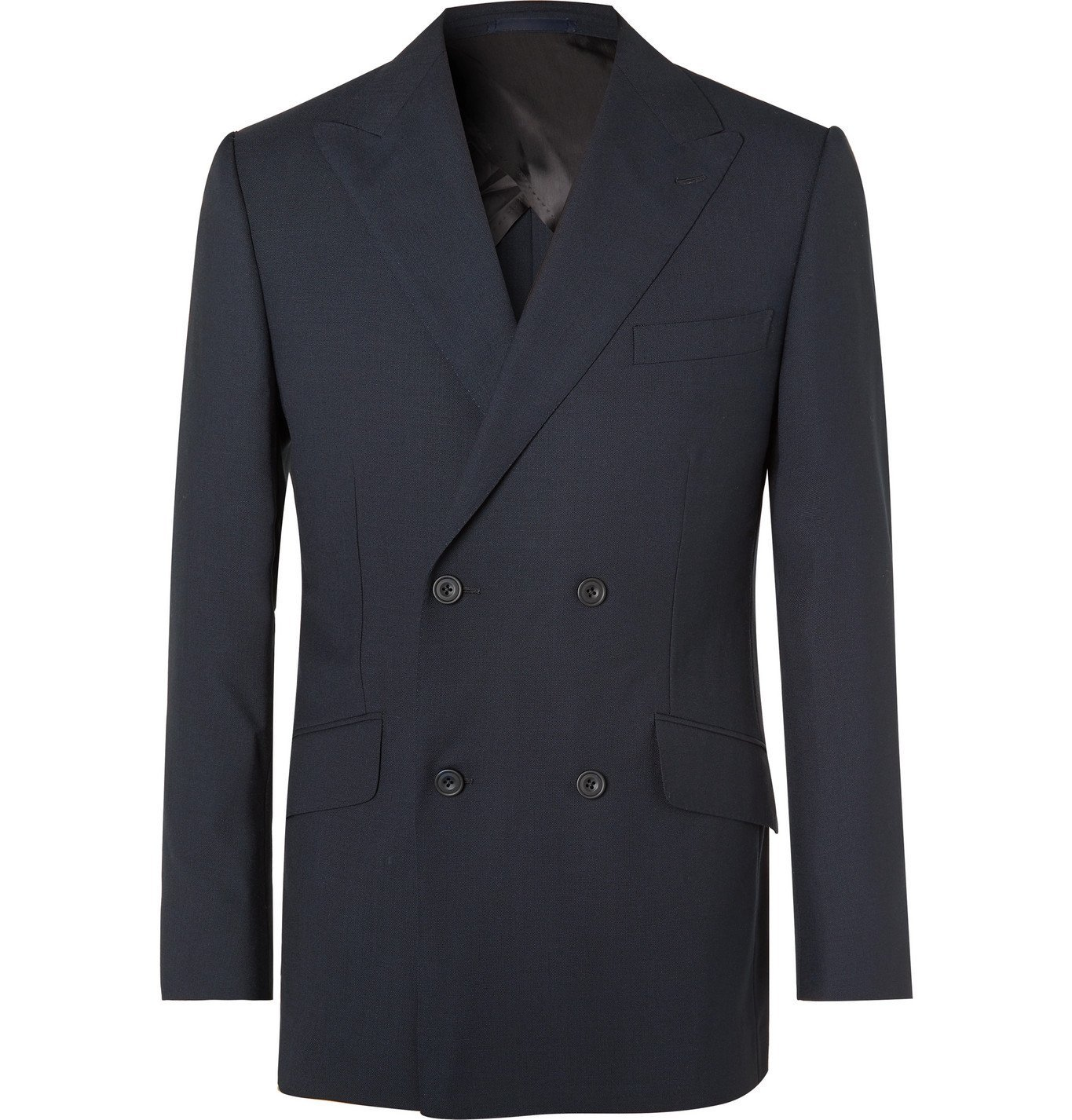 Photo: Kingsman - Arthur Harrison Double-Breasted Wool Suit Jacket - Blue