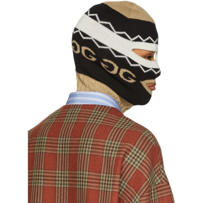 Gucci Black and Beige Peru Full Balaclava