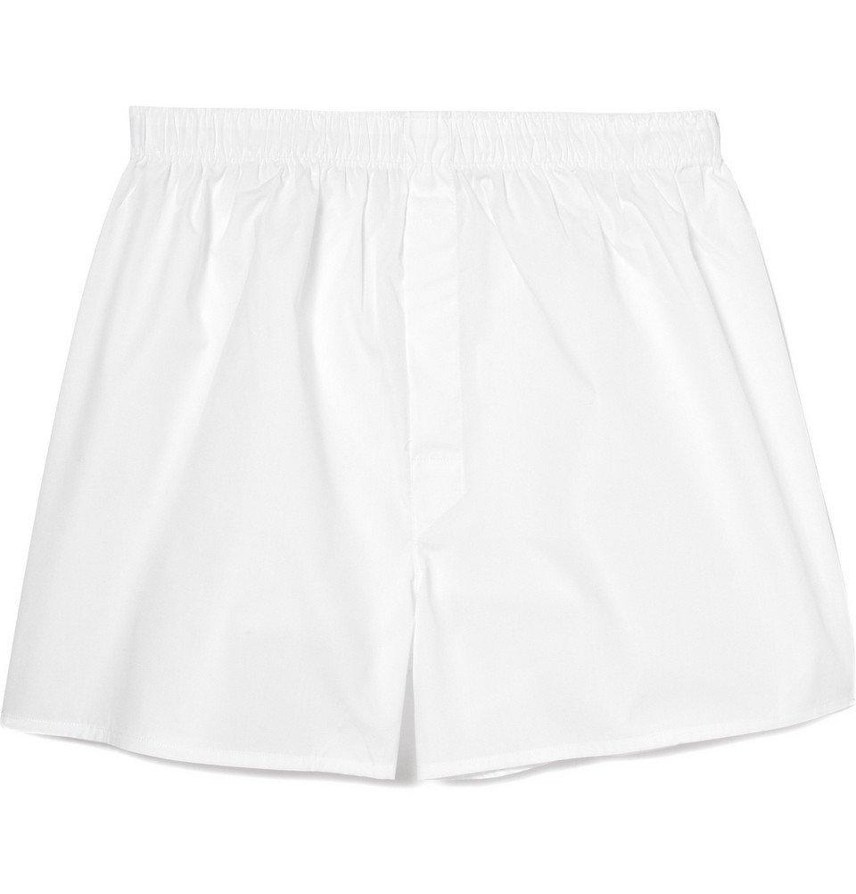 Sunspel - Cotton Boxer Shorts - Men - White