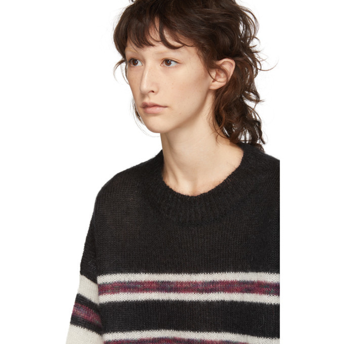 48c2c4b118 Isabel Marant Etoile Black and White Mohair Russel Sweater Isabel ...