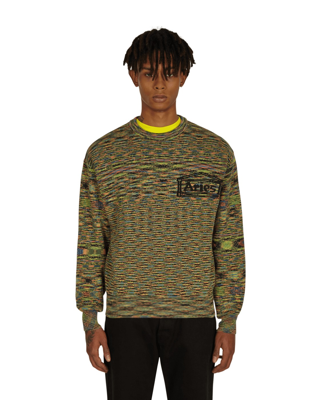 Photo: Aries Magic Eye Temple Knit Sweater Black