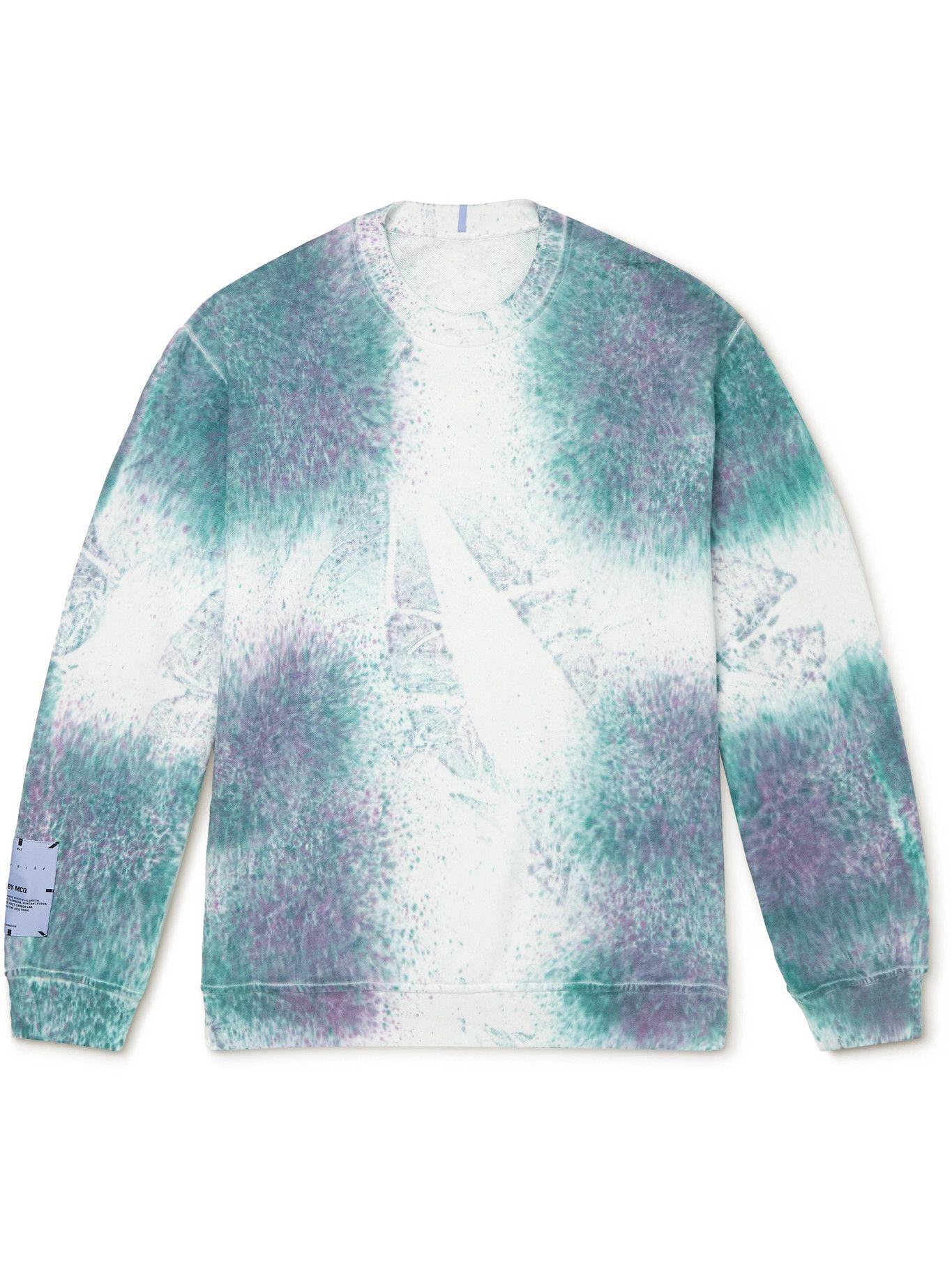 Photo: MCQ - Breathe Logo-Appliquéd Printed Cotton-Jersey Sweatshirt - White