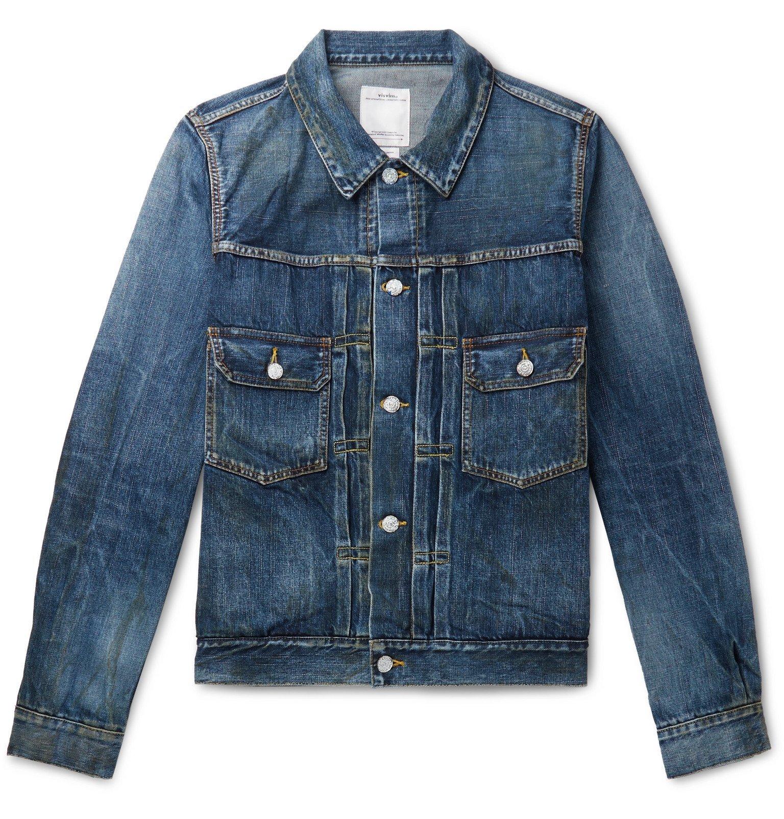 Photo: visvim - Social Sculpture 1000 Dry Damaged Denim Jacket - Blue