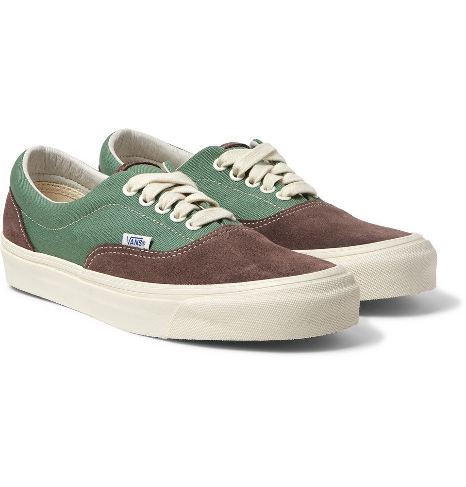 Photo: Vans - UA OG Era LX Canvas and Suede Sneakers - Gray green